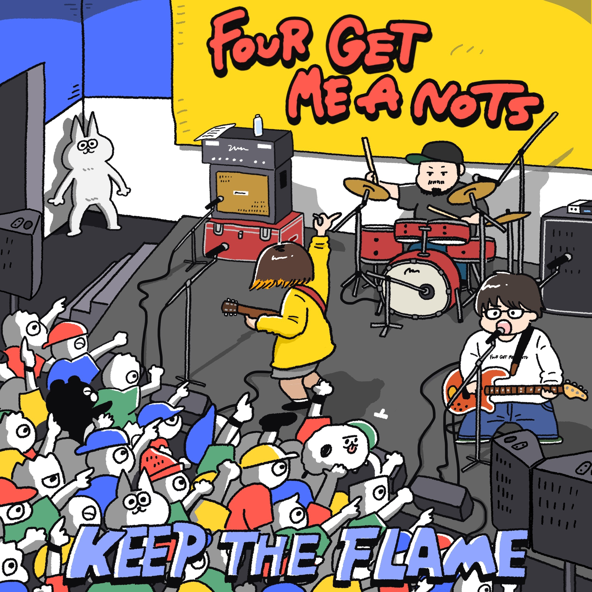Image of KEEP THE FLAME / FOUR GET ME A NOTS